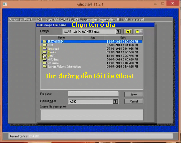 tim noi luu file ghost